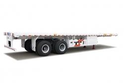 平板式集装箱运输半挂车--单点悬挂