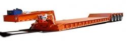 可拆卸式液压鹅颈低平板运输半挂车